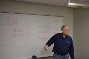 John Hunter teaching ground school.